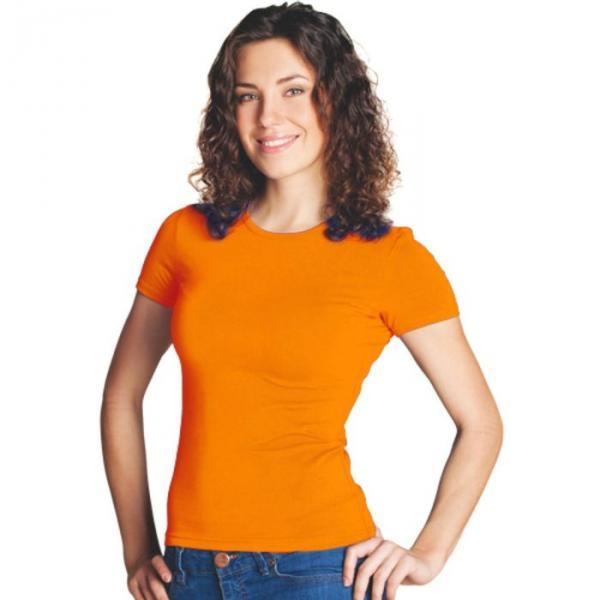 Футболка женская StanSlim, размер 52, цвет оранжевый 180 г/м 37W