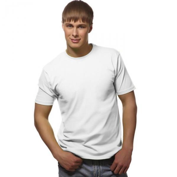 Футболка мужская StanGalant, размер 46, цвет белый 150 г/м 02