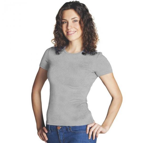 Футболка женская StanSlim, размер 46, цвет серый меланж 180 г/м 37W
