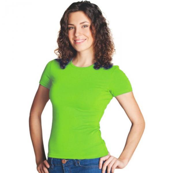 Футболка женская StanSlim, размер 48, цвет ярко-зелёный 180 г/м 37W