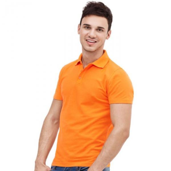 Рубашка-поло мужская StanUniform, размер 48, цвет оранжевый 185 г/м 04U