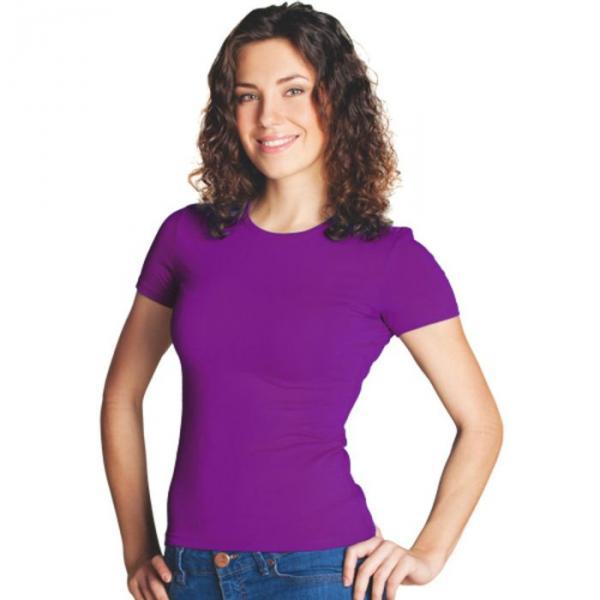 Футболка женская StanSlim, размер 48, цвет фиолетовый 180 г/м 37W