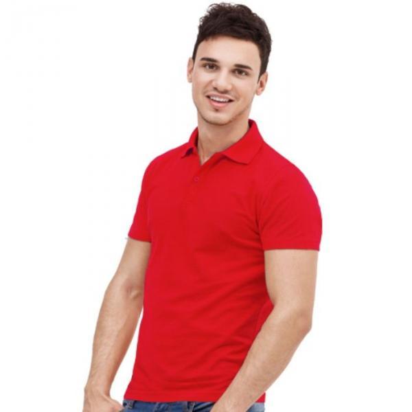 Рубашка-поло мужская StanUniform, размер 50, цвет красный 185 г/м 04U