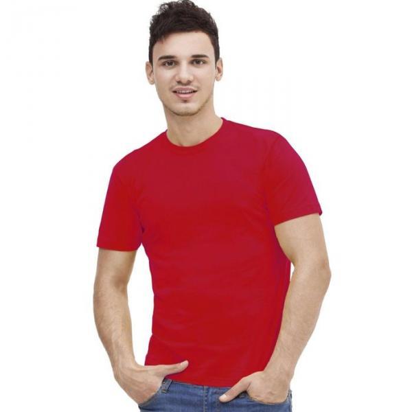 Футболка мужская StanAction, размер 54, цвет красный 160 г/м 51