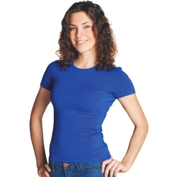 Футболка женская StanSlim, размер 52, цвет синий 180 г/м 37W