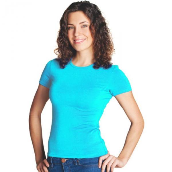Футболка женская StanSlim, размер 52, цвет бирюзовый 180 г/м 37W