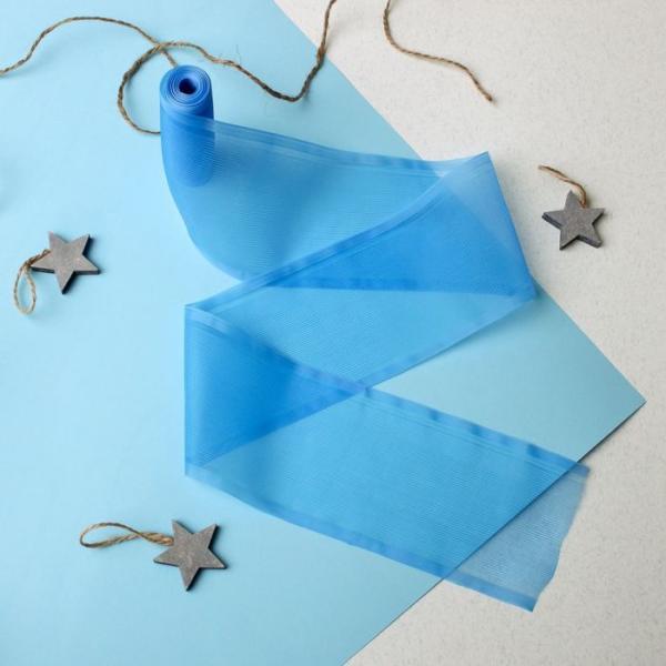 Лента на выписку, размер 3 м, цвет голубой ЯВ119187