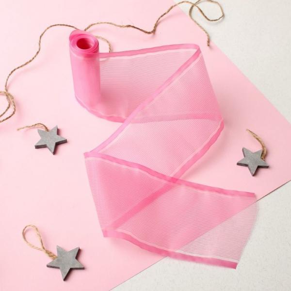 Лента  на выписку, размер 3 м, цвет розовый ЯВ119187