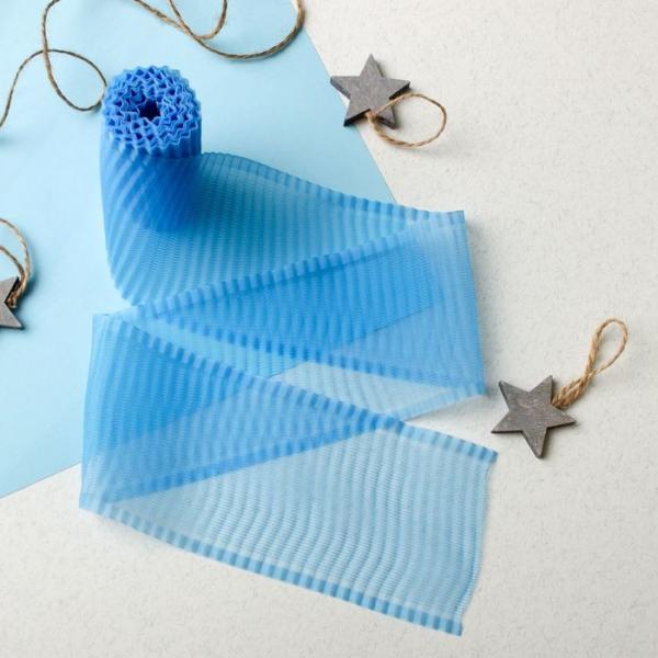 Лента гофрированная на выписку, размер 3 м, цвет голубой ЯВ119186