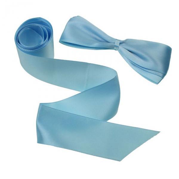 Лента на выписку (2 шт.), размер 1,9 м, цвет голубой ЯВ110040