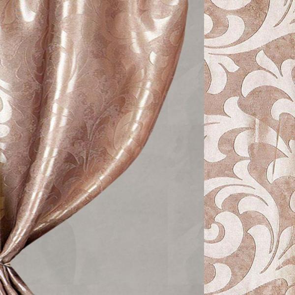 Ткань портьерная в рулоне, ширина 280 см., блэкаут 62808