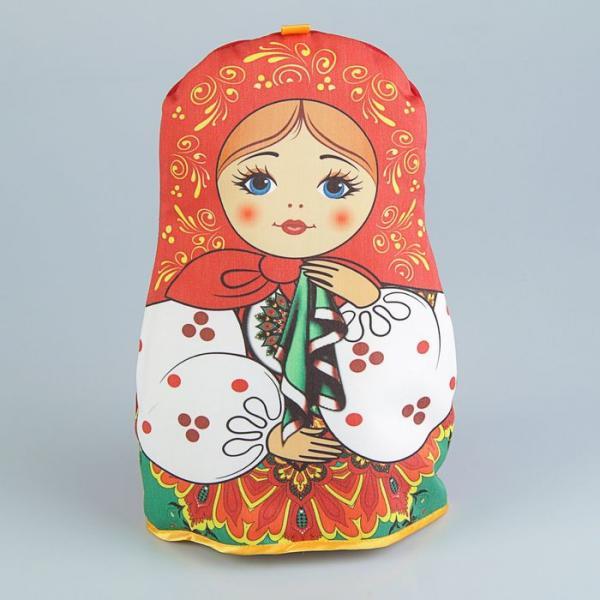 Грелка на чайник «Матрёшка», с платочком