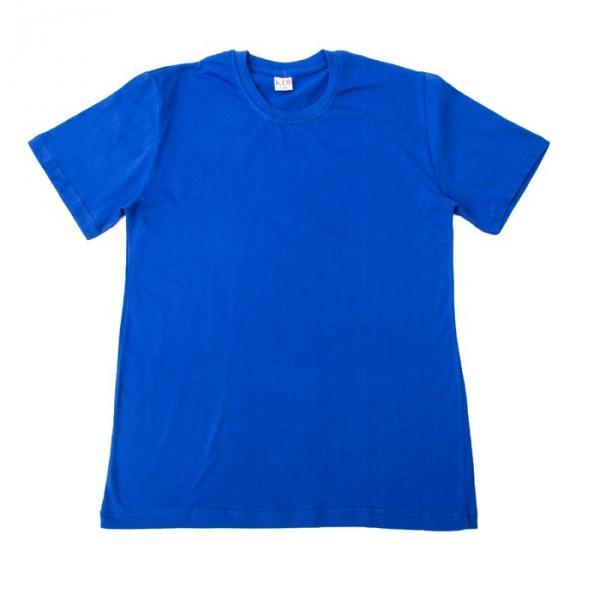 Футболка однотонная мужская цвет синий, р-р S