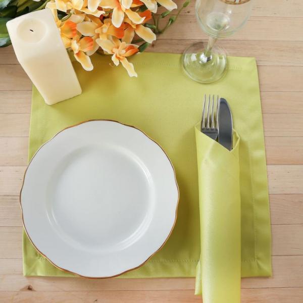"""Набор салфеток """"Этель"""" однотонных 32х32 см - 4 шт., цвет салатовый, пл. 192 г/м2, хл. с ГМО"""