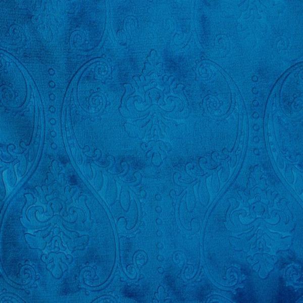 """Плед """"Этель корал"""" 1.5 сп. Дамаск, с лазерной гравировкой 150х200 см, кобальт, 100% п/э, корал-флис 280 гр/м2"""