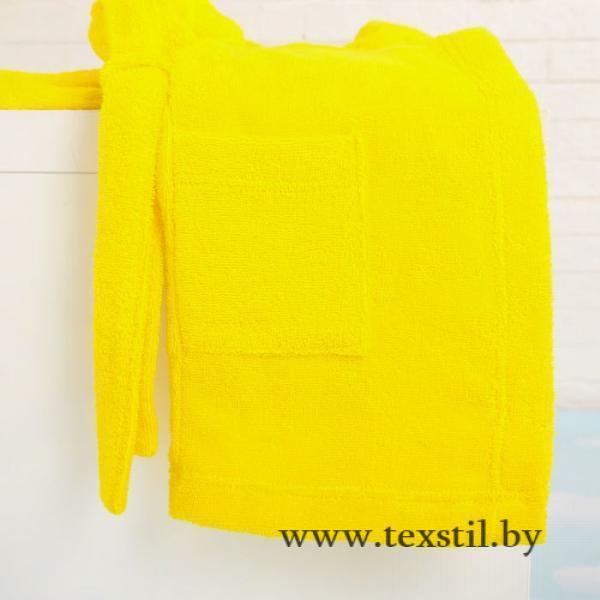 Фото Одежда и обувь, Детская одежда, Одежда для девочек, Халаты для девочек Халат махровый детский, размер 30, цвет жёлтый, 340 г/м2 хл.100% с AIRO