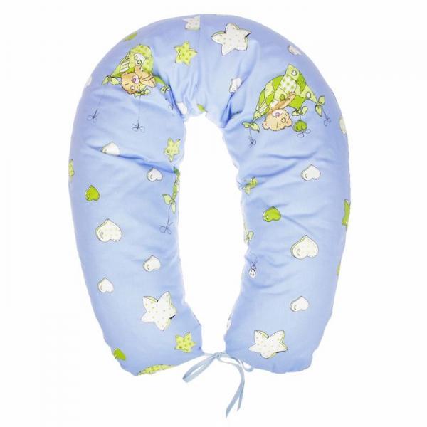Подушка многофункциональная для беременных и кормящих женщин, цвет голубой «Качели»