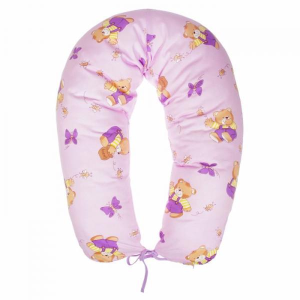 Подушка многофункциональная для беременных и кормящих женщин, цвет лиловый «Мёд»