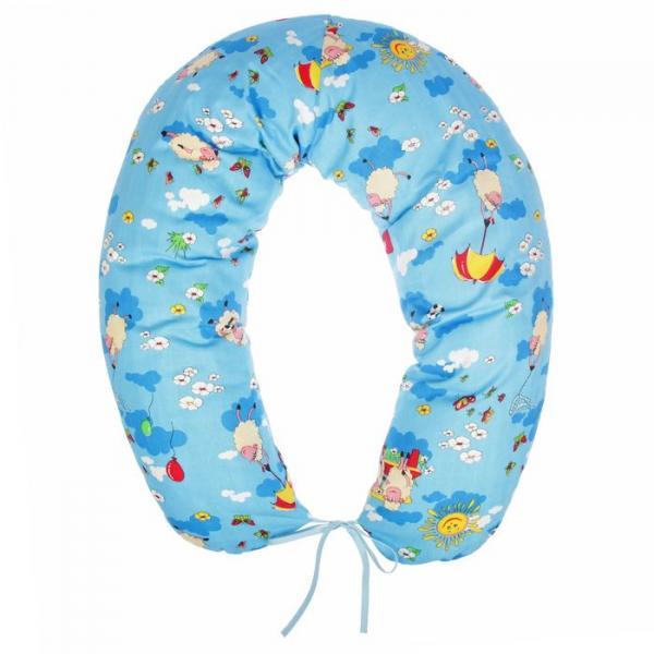 Подушка многофункциональная для беременных и кормящих женщин, цвет синий «Овечки»