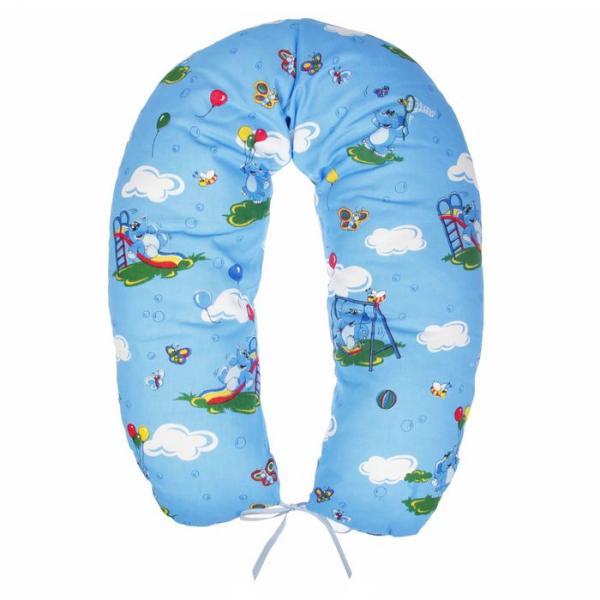 Подушка многофункциональная для беременных и кормящих женщин, цвет голубой «Слоники»