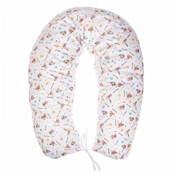 Подушка многофункциональная для беременных и кормящих женщин, чехол трикотаж, цвет белый/коричневый