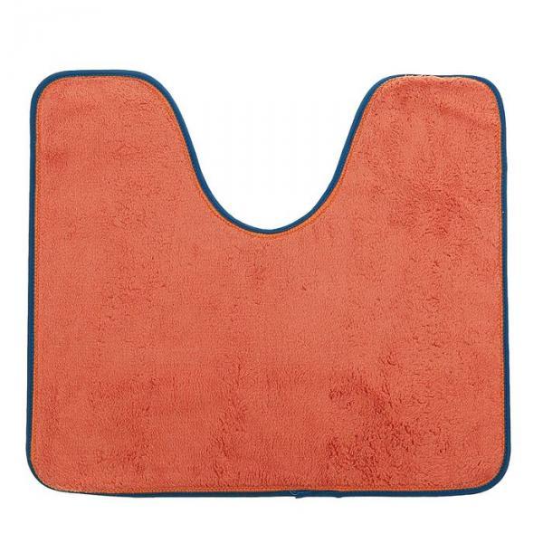 Коврик для ванной и туалета, цвет оранжевый