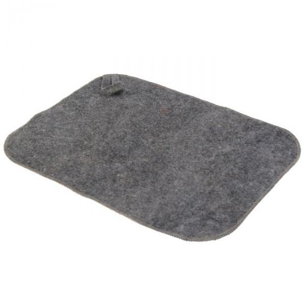 Коврик для бани и сауны «Эконом», войлок, серый, 40 ? 30 см