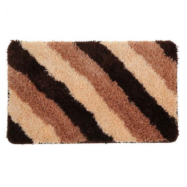 """Коврик для ванной """"Штрихи"""" 45х75 см, коричневый"""