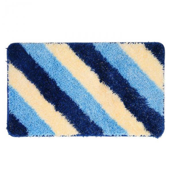 "Коврик для ванной ""Штрихи"" 45х75 см, голубой"