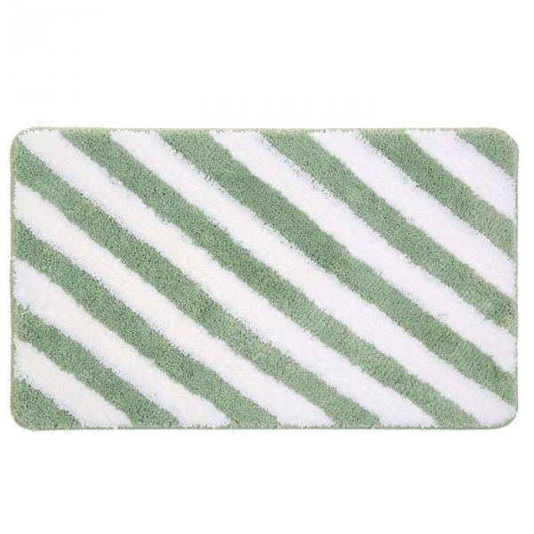 """Коврик для ванной """"Полосы"""" 45х75 см, зелёный"""