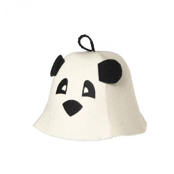Банная шапка детская «Панда» с ушками, войлок, 100% шерсть