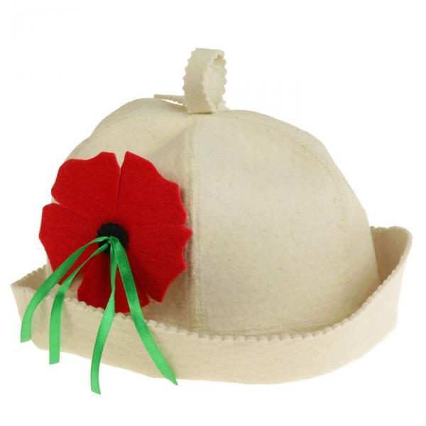 Банная шляпка «Флирт», белая