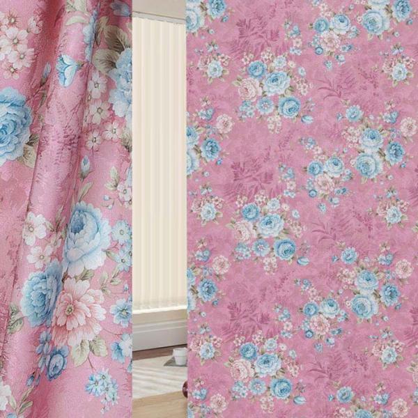 Ткань портьерная в рулоне, ширина 280 см, исполнение печать, сатен 86887