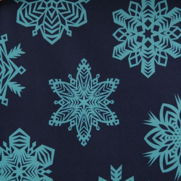 Ткань курточная ДЮСПО 240Т, цвет бирюза (принт кристаллы), 80 пог. м.