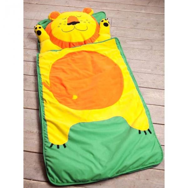 """Спальный мешок """"Лёва"""" на молнии, размер 60х120 см (S), флис/синтепух/хлопок"""