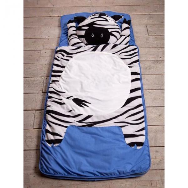 """Спальный мешок """"Зебра"""" на молнии, размер 70х170 см (М), флис/синтепух/хлопок"""