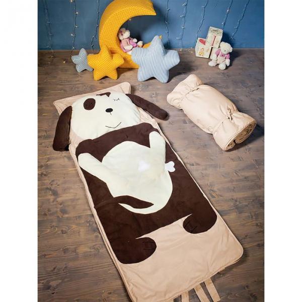 """Спальный мешок """"Пёс Барбос"""" на молнии, размер 60х120 см (S), флис/синтепух/хлопок"""