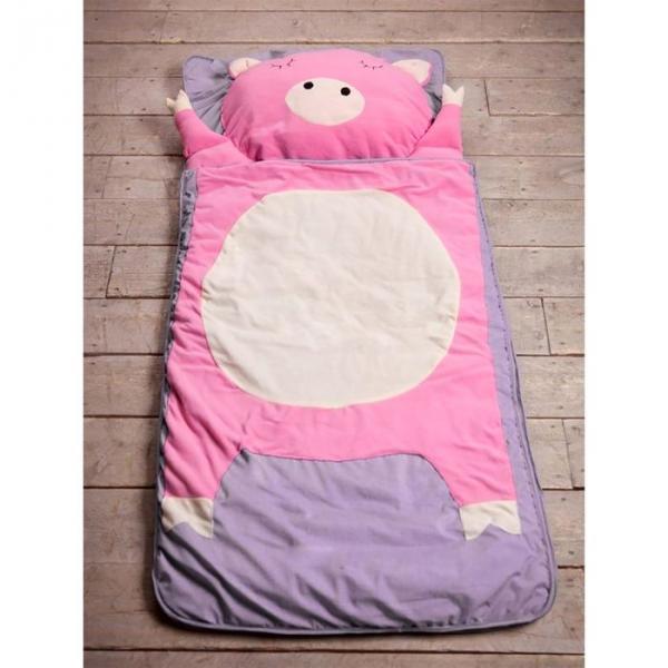 """Спальный мешок """"Свинка"""" на молнии, размер 60х120 см (S), флис/синтепух/хлопок"""