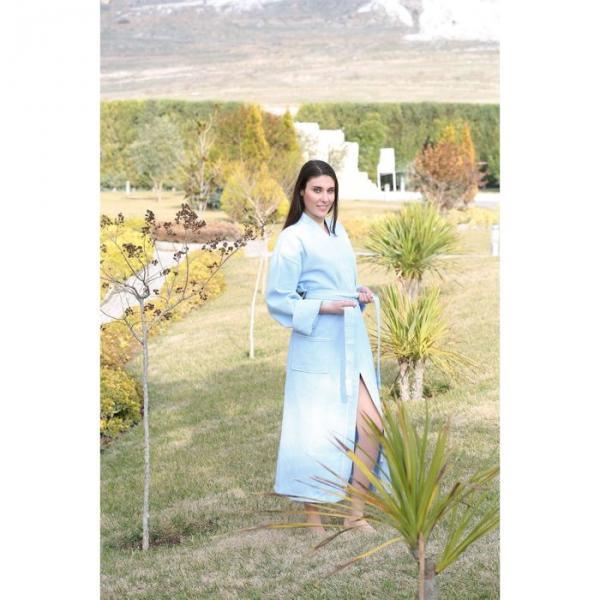 Халат женский вафельный Philippus, размер L/XL, цвет голубой, 270 г/м2
