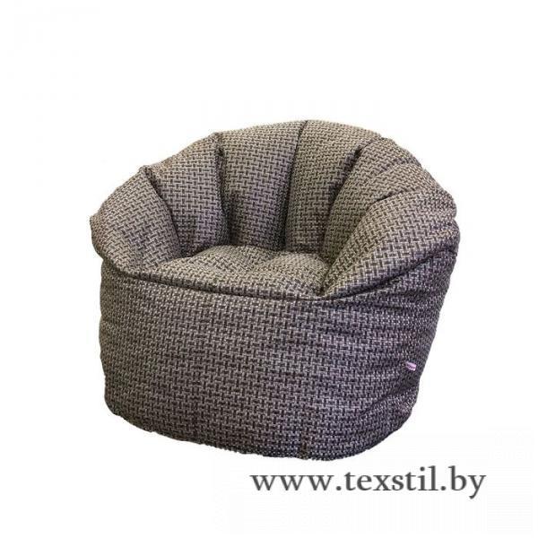 Фото Интерьер, Мебель, Мягкая мебель, Кресла Бескаркасное кресло d90/h100, рогожка коричневая, наполнитель: вспененный полистирол