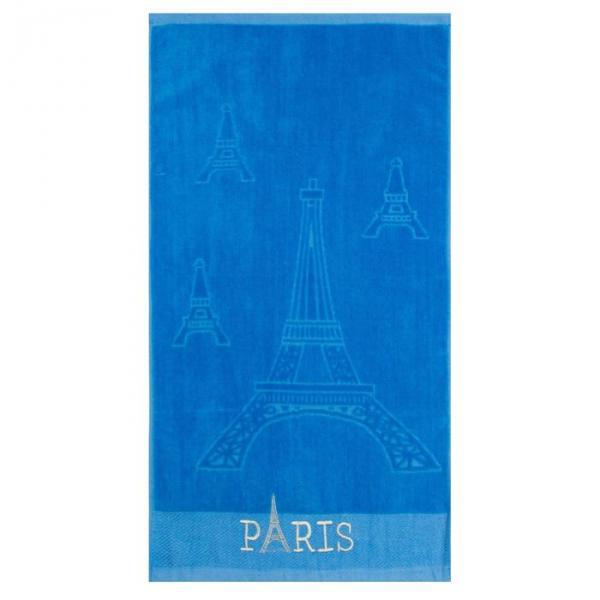Полотенце махровое Парижанка синий 50х90, хлопок 100 %,плотность 460гр.