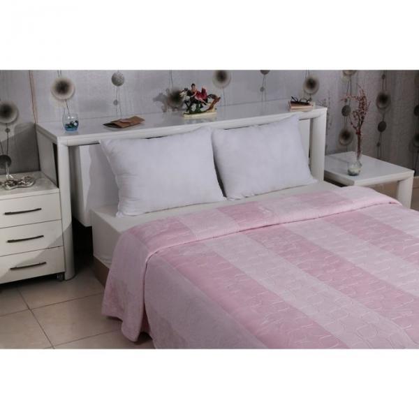 Плед велсофт Palma, размер 160х220 см, цвет розовый 300 г/м2 5095