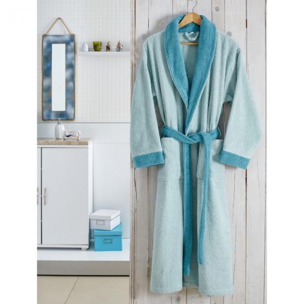 Халат махровый Adra, размер L/XL, цвет ментол, 350 г/м2