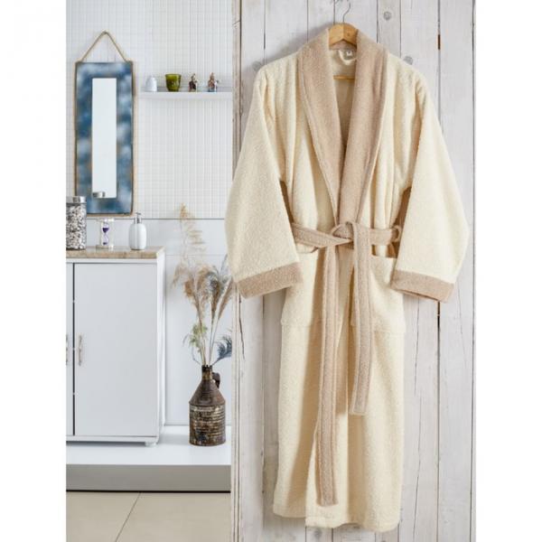 Халат махровый Adra, размер L/XL, цвет молочный, 350 г/м2