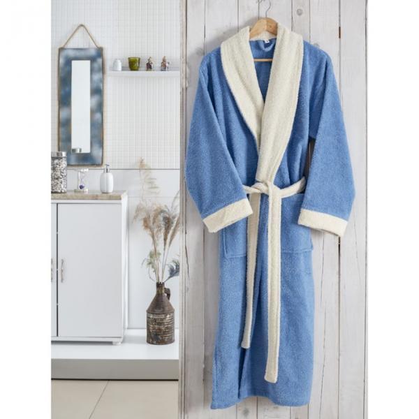 Халат махровый Adra, размер L/XL, цвет голубой, 350 г/м2