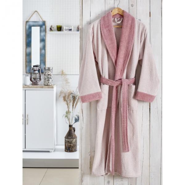 Халат махровый Adra, размер S/M, цвет пудра, 350 г/м2