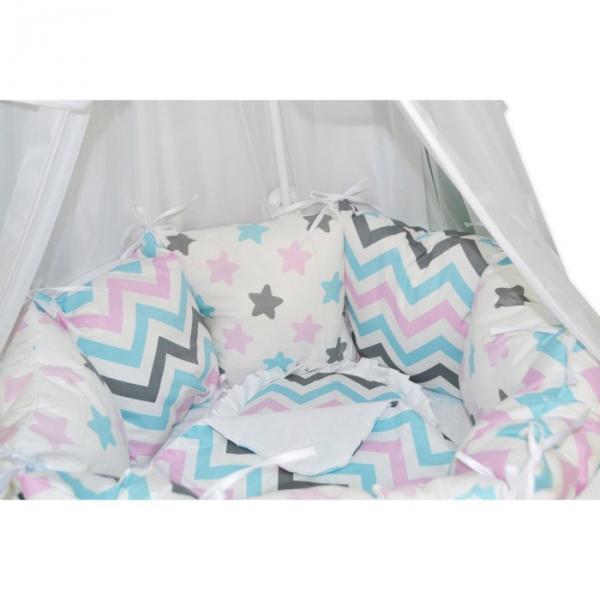"""Комплект 19 предметов для прямоугольной кроватки """"Звёздные сны1"""""""
