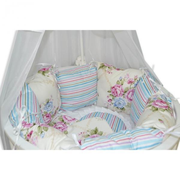 """Комплект 19 предметов для прямоугольной кроватки """"Цветочная поляна"""""""