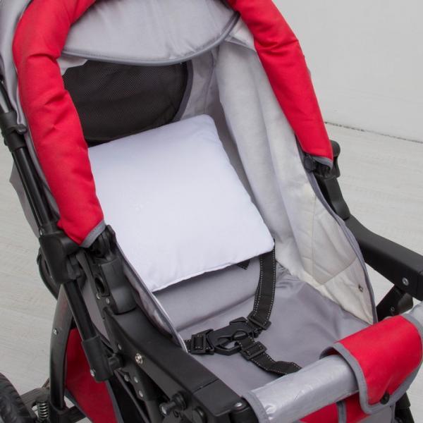 "Подушка в коляску ""Бантик"" 30х28, цв белый, микрофибра пэ100%, синтепон 200гм 055/0"