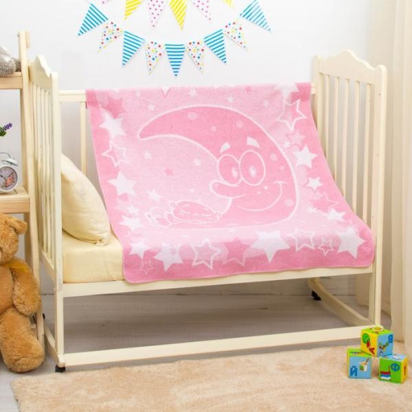 "Одеяло ""Луна и малыш"", размер 100х118 см, цвет розовый, хл50%пр50% 360 г/м DC235611"